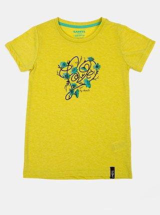 Žluté holčičí tričko s potiskem SAM 73