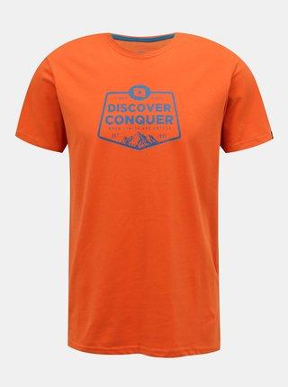 Oranžové pánské tričko s potiskem LOAP Anakin