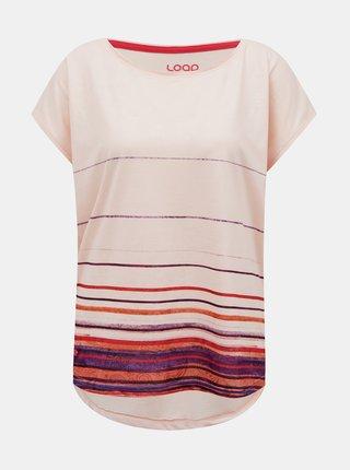 Růžové dámské vzorované tričko LOAP Alby