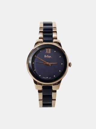 Dámské hodinky s nerezovým páskem v modro-zlaté barvě Lee Cooper