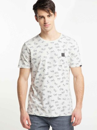 Šedé pánské vzorované tričko Ragwear