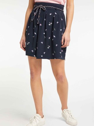 Tmavě modrá vzorovaná sukně Ragwear