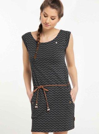 Čierne vzorované šaty Ragwear