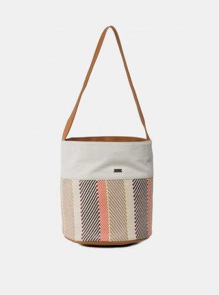 Krémová vzorovaná kabelka Roxy