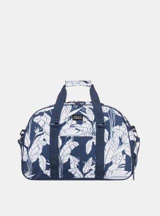 Modrá vzorovaná cestovní taška Roxy