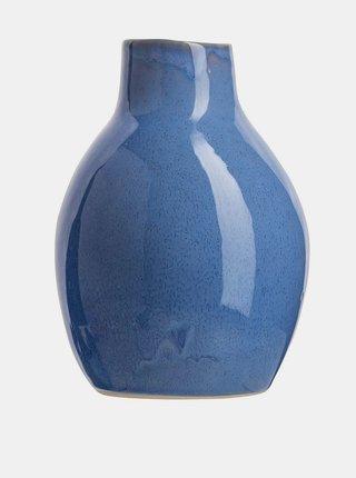 Modrá váza Tranquillo Home Arnhelm 17 cm