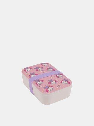 Bambusový svačinový box Unicorns Portobello By Inspire