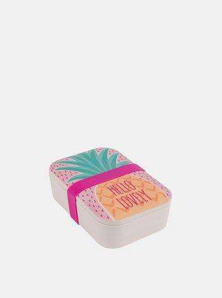 Bambusový svačinový box Pineapple Portobello By Inspire