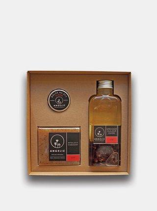 Dárková sada se sprchovým olejovým Cuvée s vůní růže Angelic