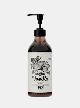 Tekuté koupelnové mýdlo s vůní skořice a vanilky 500 ml Yope