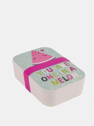 Bambusový svačinový box Melon Portobello By Inspire