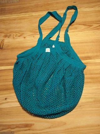 Síťovinová taška s drobnými oky - tyrkysová Casa Organica