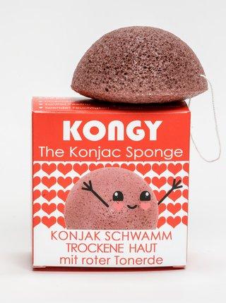 Konjaková houbička - růžový jíl Kongy