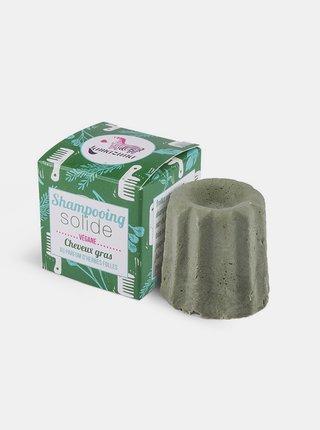 Tuhý šampon pro mastné vlasy - divoká tráva 55 g Lamzuna