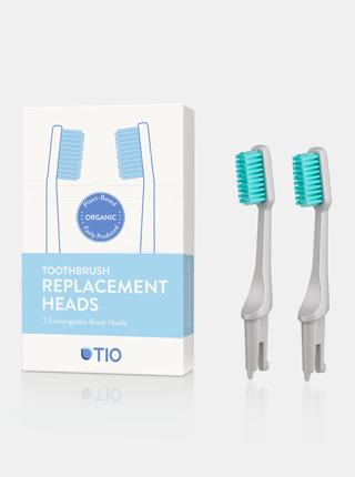 Náhradní hlavice k zubnímu kartáčku (medium) - oblázkově šedá 2 ks TIO