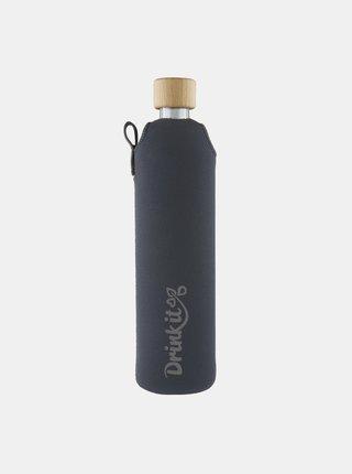 Sklenená fľaša v neoprénovom obale Drinkit Asketa 500 ml