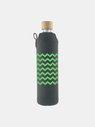 Sklenená fľaša v neoprénovom obale Drinkit Lemonka 500 ml