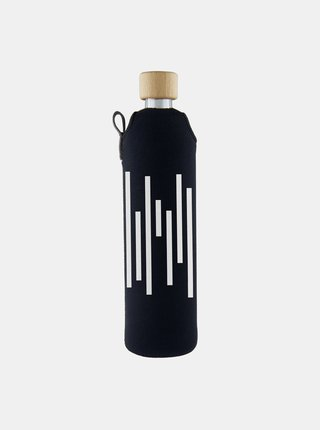 Sklenená fľaša v neoprénovom obale Drinkit Barcode 500 ml