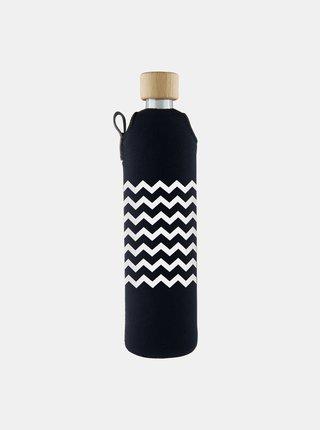 Skleněná láhev v neoprenovém obalu Drinkit Cikcak 500 ml