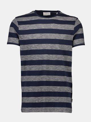 Šedo-modré pruhované tričko Lindbergh