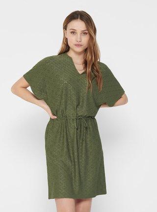 Tmavozelené šaty Jacqueline de Yong