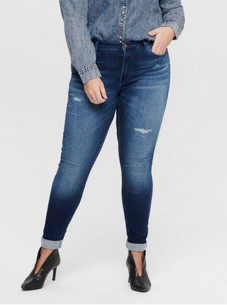 Modré skinny fit džíny ONLY CARMAKOMA