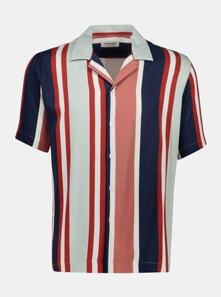 Modro-červená pruhovaná košile Lindbergh