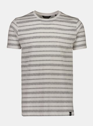 Krémové  vzorované tričko Shine Original