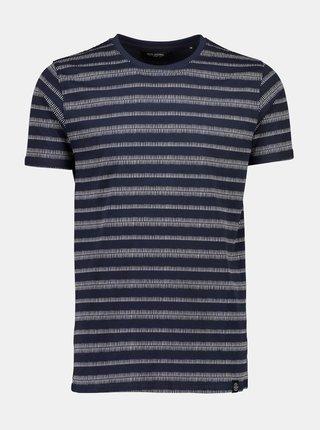 Tmavě modré vzorované tričko Shine Original