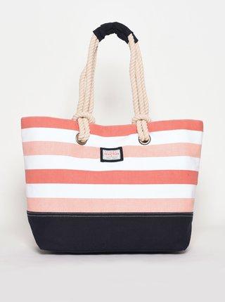 Růžová pruhovaná plážová taška Brakeburn