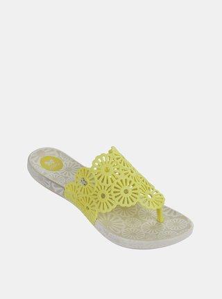 Žluté dámské žabky Zaxy