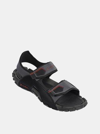 Tmavošedé pánske sandále Rider