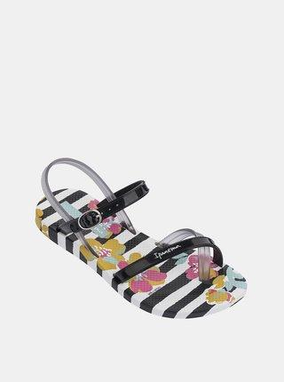 Bílo-černé holčičí sandály Ipanema