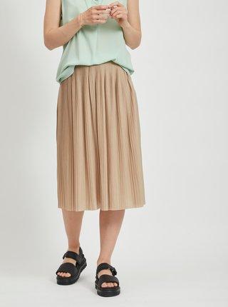 Béžová plisovaná sukně VILA