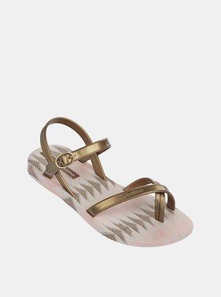 Dievčenské sandále v zlatej farbe Ipanema