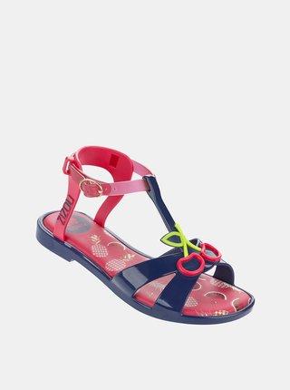 Modro-růžové holčičí sandály Zaxy