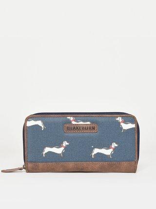 Modrá vzorovaná peňaženka Brakeburn