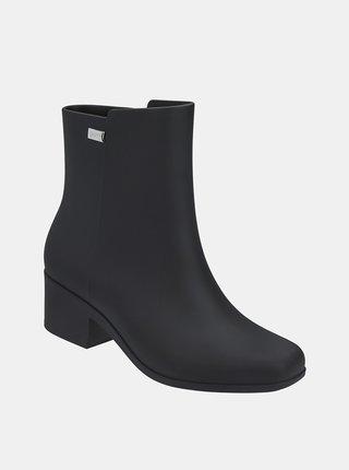 Černé kotníkové boty na nízkém podpatku Zaxy Close Boot