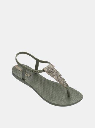 Sandale kaki cu decoratie aurie Ipanema Charm V