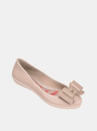 Ružové baleríny s mašľou Zaxy