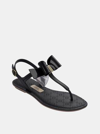 Čierne sandále s mašľou Grendha