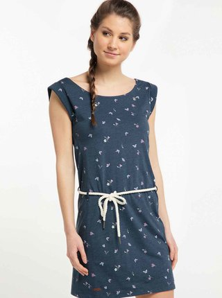 Tmavě modré vzorované šaty Ragwear Tamy