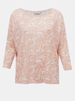 Růžové vzorované tričko ONLY CARMAKOMA