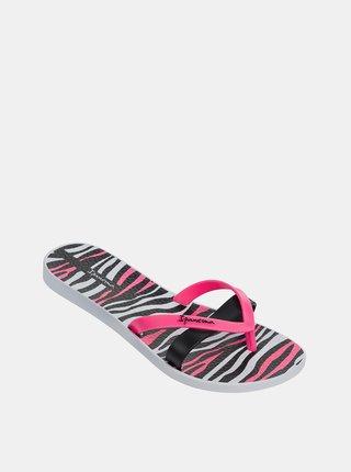 Černo-růžové dámské žabky Ipanema