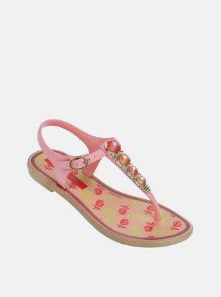 Ružové dievčenské sandále Grendha