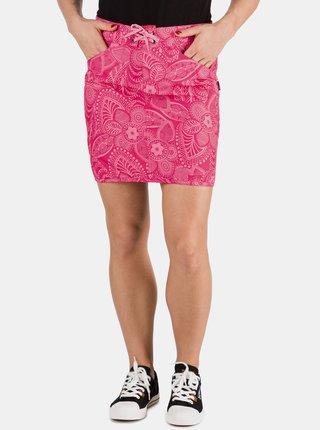 Ružová dámska kvetovaná sukňa SAM 73
