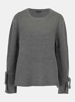 Sivý dámsky sveter s uzlami na rukávoch Broadway Shahla