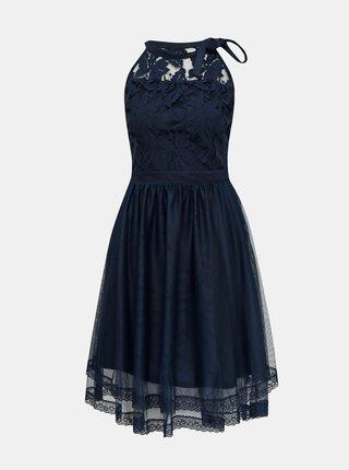 Tmavě modré krajkové šaty VILA Zinna