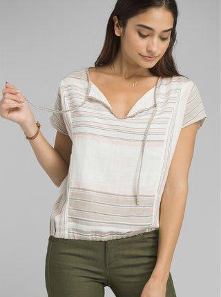 Béžové vzorované tričko prAna Mistico