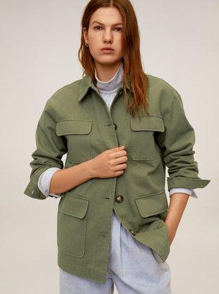 Zelená lehká bunda s kapsami Mango Margot